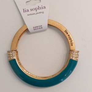 Lia Sophia Aqua Green Stretch Bangle  Bracelet